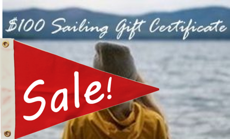 sailing gift certificate for $100