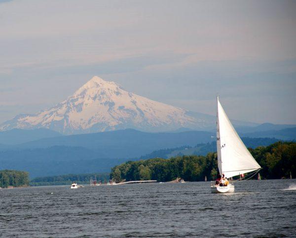 basic cruising and sailing near Mt. Hood